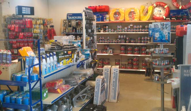 Chandlery extension open.